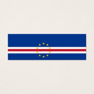 Cape Verde Flag Mini Business Card