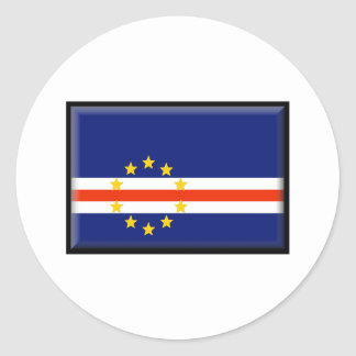 Cape Verde Flag Classic Round Sticker