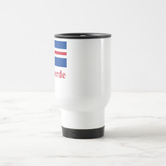 Cape Verde Flag with Name in Portuguese Travel Mug