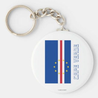 Cape Verde Flag with Name Keychain