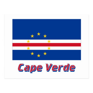 Cape Verde Flag with Name Post Card