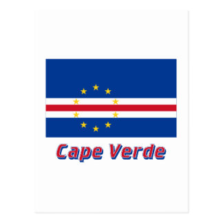 Cape Verde Flag with Name Postcard