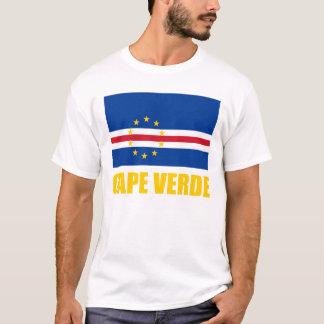 Cape Verde Flag Yellow Text Light T-Shirt