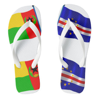 Cape Verde Flags Flip Flops