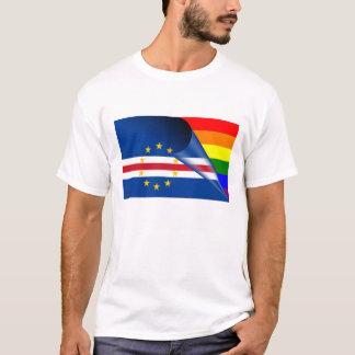 Cape Verde Gay Pride Rainbow Flag T-Shirt