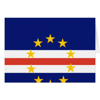 Cape Verde High quality Flag Greeting Card