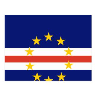 Cape Verde High quality Flag Postcard