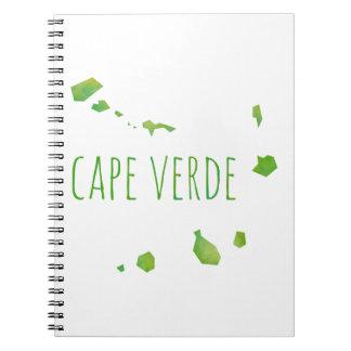 Cape Verde Map Spiral Notebook