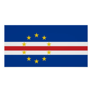 Cape Verde National World Flag Poster