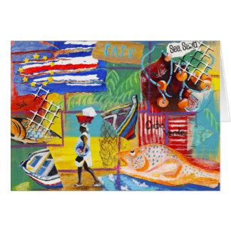 Cape Verde notecard Card
