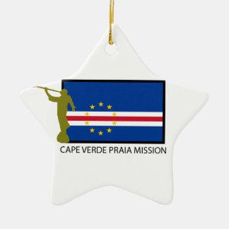 CAPE VERDE PRAIA MISSION LDS CTR CERAMIC ORNAMENT