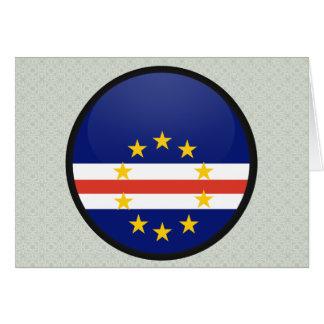 Cape Verde quality Flag Circle Greeting Card