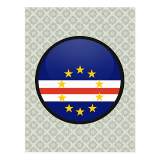 Cape Verde quality Flag Circle Postcard