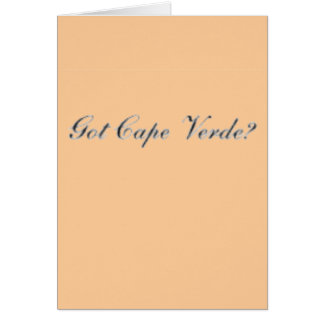Cape verde  T-Shirt, Hat, Bag and etc Greeting Card