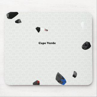 Cape Verde Trendy Peace Sign with Cape Verdean map Mousepads