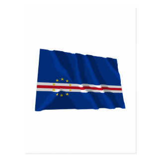 Cape Verde Waving Flag Post Cards