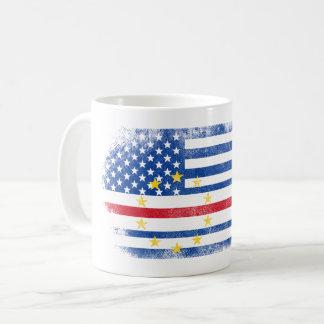 Cape Verdean American Flag   Cabo Verde and USA Coffee Mug