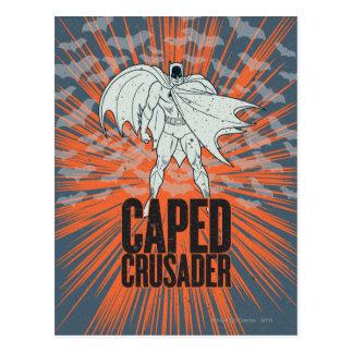 Caped Crusader Graphic Postcard