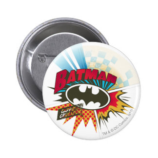 Caped Crusader Pinback Button