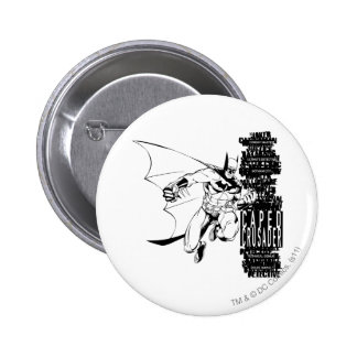 Caped Crusader Sketch Pinback Button