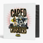 Caped Crusaders Graphic 3 Ring Binder