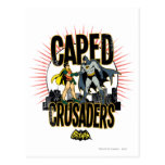 Caped Crusaders Graphic Post Cards