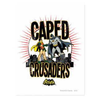 Caped Crusaders Graphic Postcard