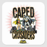 Caped Crusaders Graphic Square Sticker