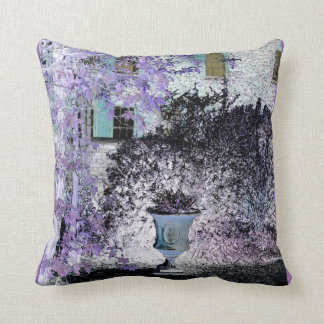 Capel Manor facade with sunlight and urn Pillow