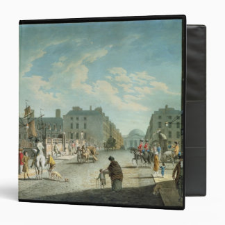 Capel Street with the Royal Exchange, Dublin, 1800 3 Ring Binder