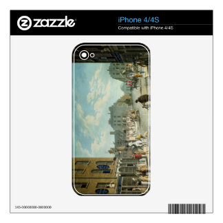 Capel Street with the Royal Exchange, Dublin, 1800 iPhone 4 Skins