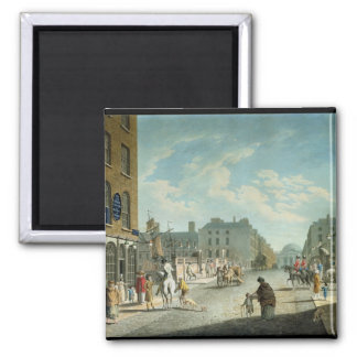 Capel Street with the Royal Exchange, Dublin, 1800 2 Inch Square Magnet