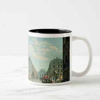 Capel Street with the Royal Exchange, Dublin, 1800 Two-Tone Coffee Mug
