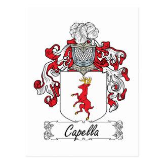 Capella Family Crest Postcard