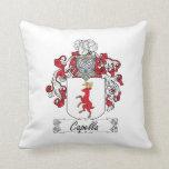 Capella Family Crest Throw Pillow