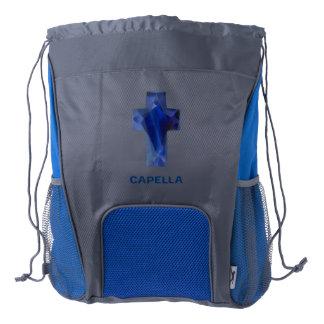 Capella Jewels™ Unique Christian Design Drawstring Backpack
