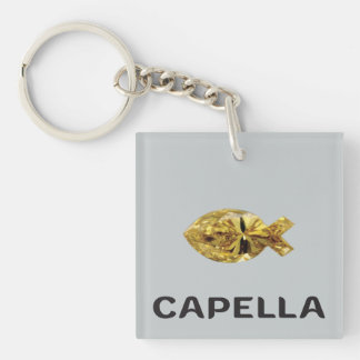 "Capellajewels Fish Symbol ""Ichthys"" Keychain"