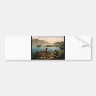 Capello St. Angelo and view of Bellagio, Lake Como Bumper Sticker