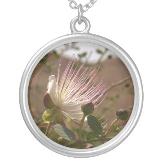 Caper Flower Kapernblüte Personalisierte Halskette