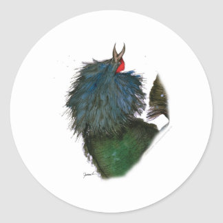 capercaillie bird, tony fernandes classic round sticker