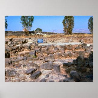 Capernaum, Galilea, sitio arqueológico Póster