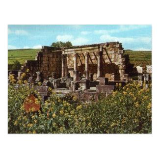 Capernaum, Galilee,, Early Synagogue Postcard