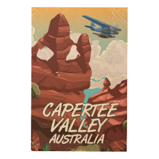 Capertee Valley Australia travel poster Wood Wall Decor