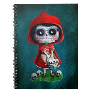 Caperucita Rojo de Dia de los Muertos Cuaderno