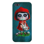 Caperucita Rojo de Dia de los Muertos iPhone 5 Funda
