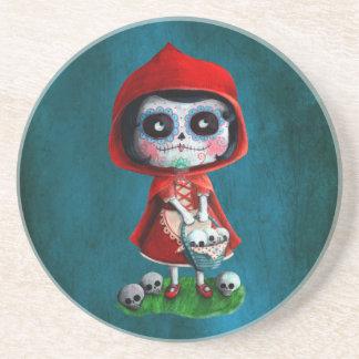 Caperucita Rojo de Dia de los Muertos Posavasos Diseño