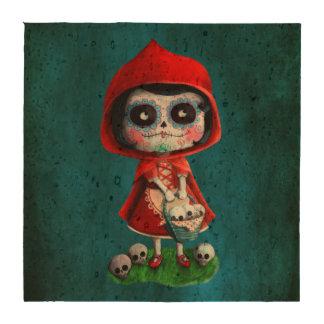 Caperucita Rojo de Dia de los Muertos Posavasos
