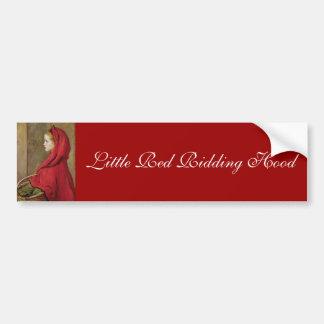 Caperucita Rojo de John Everett Millais Etiqueta De Parachoque