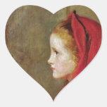Caperucita Rojo de John Everett Millais Colcomanias De Corazon Personalizadas