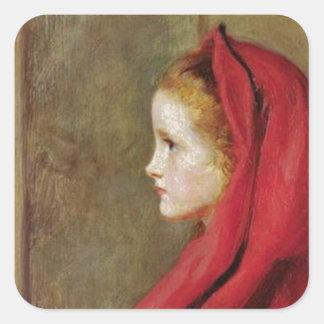 Caperucita Rojo de John Everett Millais Colcomanias Cuadradases